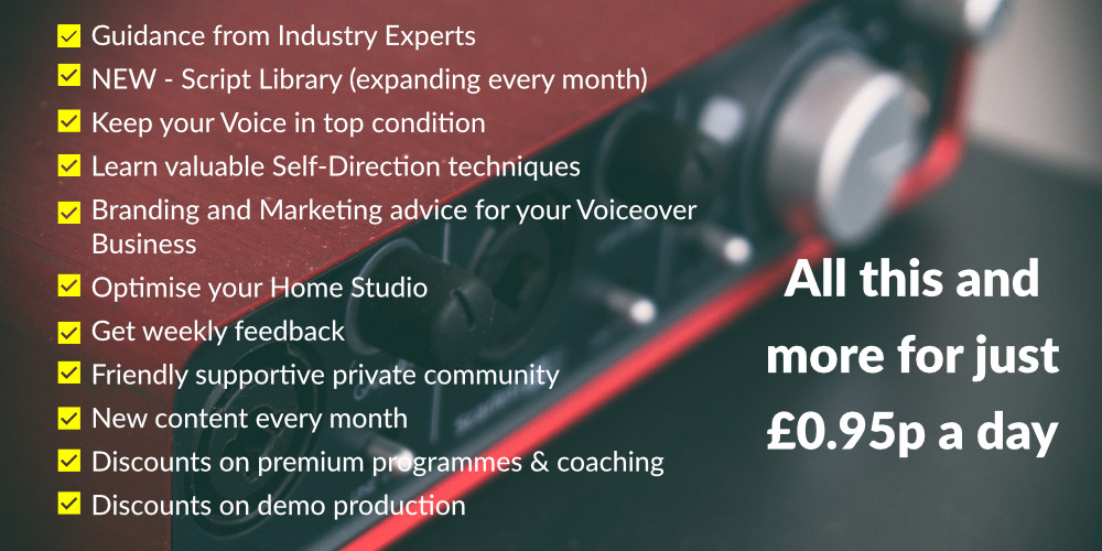 VOICEOVER TRAINING COURSES
